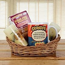 Orange Basket For Grandpa: Gift Baskets Ghaziabad
