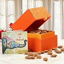 Orange Box of Almonds: Bhai Dooj Gifts Srinagar