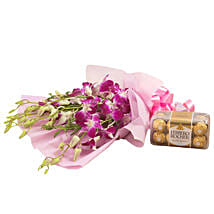 Orchids N Chocolates: Flowers & Chocolates for Birthday