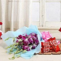 Orchids with Chocolates: Flowers and Chocolates for Christmas