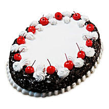 Oval Blackforest Spell 1kg Parent: Cakes to Dumka