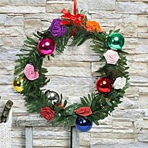 Paper Flower Christmas Wreath: Home Decor Gifts for Christmas