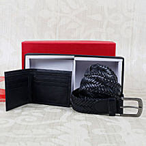 Paradigm Black Braided Belt Combo: Buy Wallets