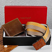 Paradigm Brown Wallet N Belt Combo: Buy Wallets