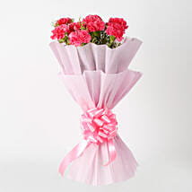 Passionate Pink Carnations Bouquet: Mothers Day Flowers Kolkata