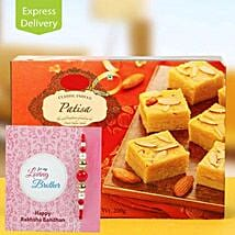 Patisa Hamper: Rakhi With Sweets Jaipur