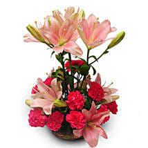 Perfect pink: Send Lilies to Pune