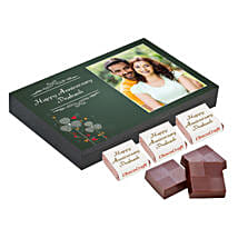 Personalised Anniversary Chocolate Box- Green: Personalised Chocolates for Her