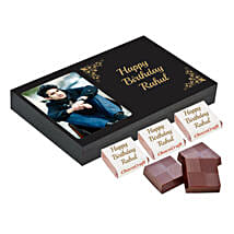 Personalised Birthday Chocolate Box- Black: Personalised Chocolates to Hyderabad