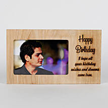 Personalised Birthday Engraved Frame: Personalised Engraved