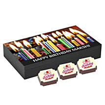 Personalised Birthday Gift Box- 6 Chocolates: Personalised Chocolates Hyderabad