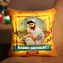 Personalised Birthday LED Cushion: