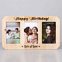 Personalised Birthday One Personalised Wooden Photo Frame: Personalised Photo Frames for Her