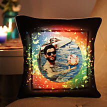 Personalised Colourful LED Cushion: Gift for Boyfriend
