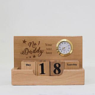 Personalised Desktop Wooden Calendar For Dad: