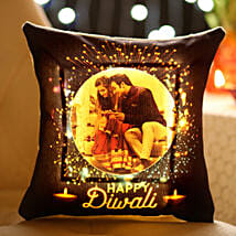 Personalised Diwali Wishes With LED Cushion: Diwali Gifts for Girls/ GF