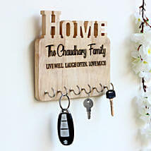 Personalised Engraved Wooden Key Holder: Personalised Gifts