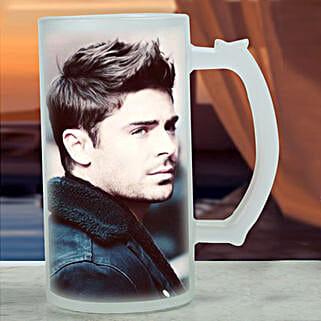 Personalised Frosted Beer Mug: Bhai Dooj Personalised Gifts