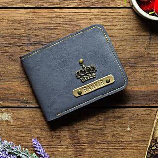 Personalised Grey Mens Wallet: Mens Accessories