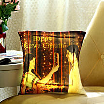 Personalised Karwa Chauth Special LED Cushion: Send Personalized Gifts