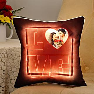 Personalised LED Love Cushion: Cushions