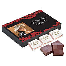 Personalised Love You Decorated Chocolate Box: Personalised Chocolates for Wife