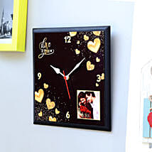 Personalised Love You Wall Clock: Personalised Clocks
