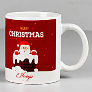 Personalised Merry Christmas Santa White Mug: Christmas Gifts
