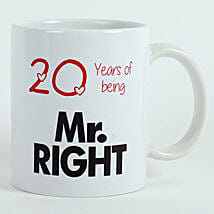 Personalised Mr Right Mug: Send Valentine Gifts to Surat