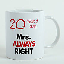 Personalised Mrs Right Mug: Valentine Gifts Amritsar