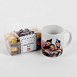 Personalised Mug & Ferrero Rocher Combo Birthday: Personalised Chocolates