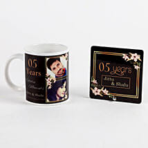 Personalised Mug & Table Top Anniversary Gift Set: