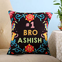 Personalised Number 1 Bro Cushion: Buy Cushions