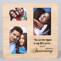 Personalised One Personalised Wooden Frame For Anniversary: Send Personalised Photo Frames for Him