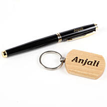 Personalised Roller Pen & Keychain Set: Personalised Stationary
