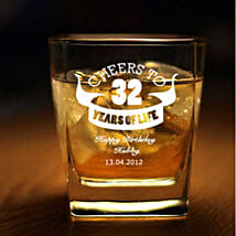 Personalised Set Of 2 Whiskey Glasses 1064: Personalised Gifts for Men