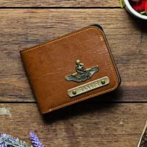 Personalised Tan Brown Mens Wallet: Personalised Gifts for Father