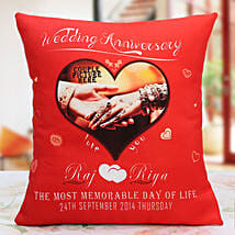 Personalized Anniversary Cushion: Send Personalised Gifts to Sikar