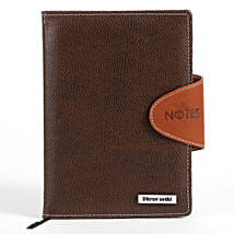Personalized Brown Notebook: