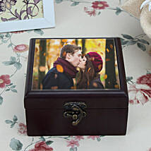 Personalized Brown Wooden Box: Send Personalised Gifts to Muktsar