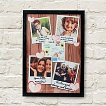 Personalized Cherishing Love Frame: Send Personalised Gifts to Sikar