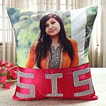 Personalized Comfy Cushion: Bhaubeej Gifts for Sister