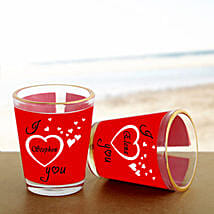 Personalized Couple Shot Glass: Gift Delivery in Bhind