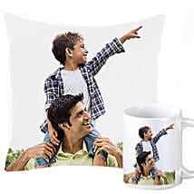 Personalized Cushion and Mug For Dad: Personalised Gifts Bokaro