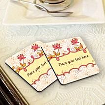 Personalized Floral Coasters: Friendship Day Personalised Gifts