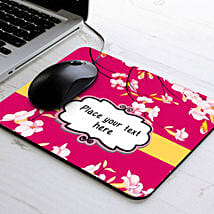 Personalized Floral Mouse Pad: Friendship Day Personalised Gifts