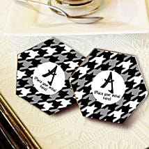 Personalized Letter Coasters: Send Gifts to Chhindwara