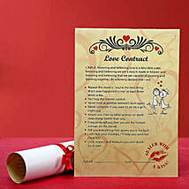 Personalized Love Contract for Her: Personalised Gifts Satara