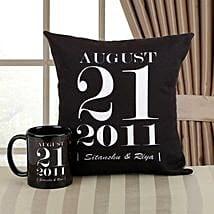 Personalized Memories Combo: Personalised Cushions for Wedding