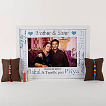 Personalized Photo Frame Rakhi Combo: Send Rakhi With Photo Frames